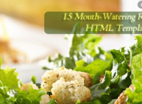 15 Mouth-Watering Restaurant HTML Templates