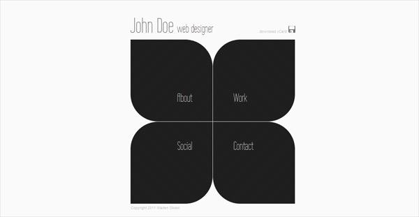 25 creative vcardbusiness card html templates design blog 4 sharp wajeb Choice Image