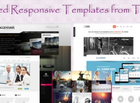 Most Wanted Responsive Templates from Themeforest