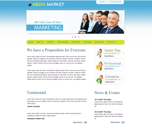 Media Market – Free Corporate HTML Responsive Template | Free CSS ...