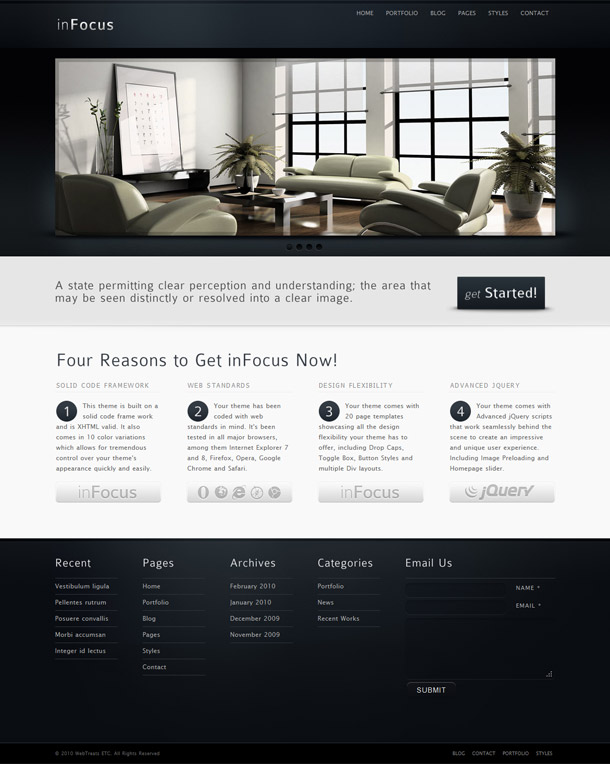 inFocus &#8211; Powerful Premium Business HTML/CSS Template