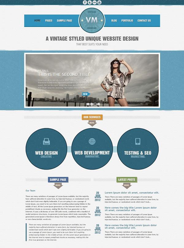VM Blue Homepage