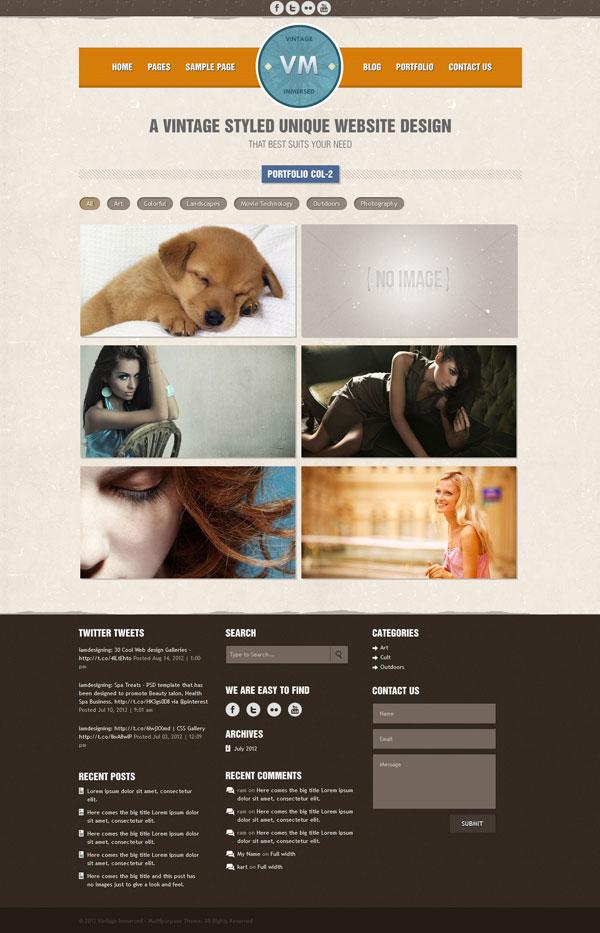 VM 2 column Portfolio Page