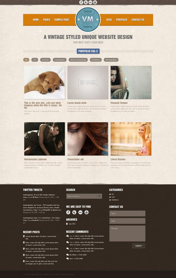 VM  3 column Portfolio Page