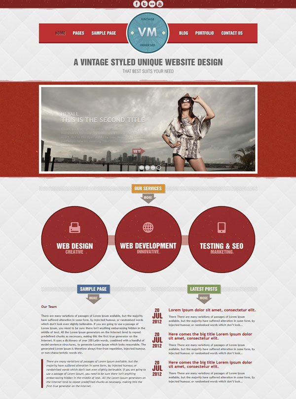 VM Red Homepage