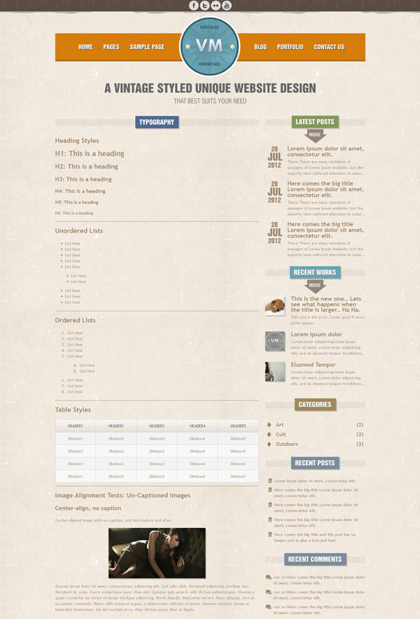 VM Typography Page